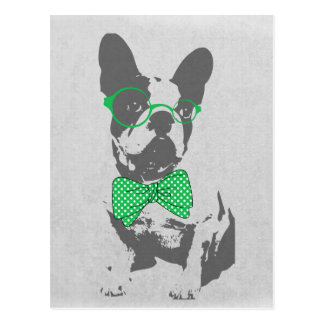 Cute funny trendy vintage animal French bulldog Postcard