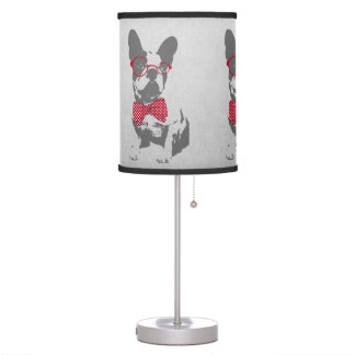 Cute funny trendy vintage animal French bulldog Table Lamp