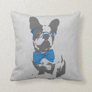Cute funny trendy vintage animal French bulldog Throw Pillow