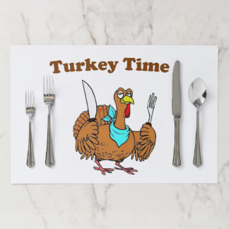 Cute Funny Turkey Thanksgiving Paper Placemat