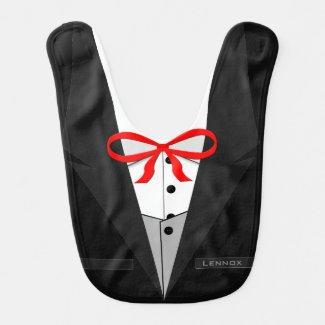 Cute Funny Tuxedo Design Bib