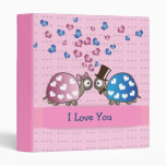 Cute Funny Valentines day Turtles in Love Binders
