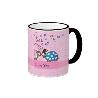 Cute Funny Valentines day Turtles in Love Mug