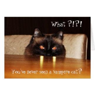 Cute, funny, vampire cat greeting cards