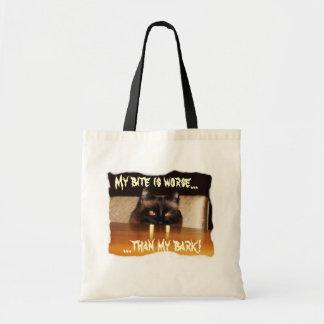 Cute, funny, vampire cat tote bag