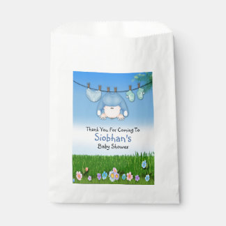 Cute Funny Washing Line Baby Boy Shower Favor Bags