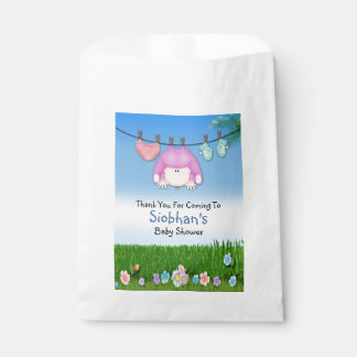 Cute Funny Washing Line Baby Girl Shower Favor Bags
