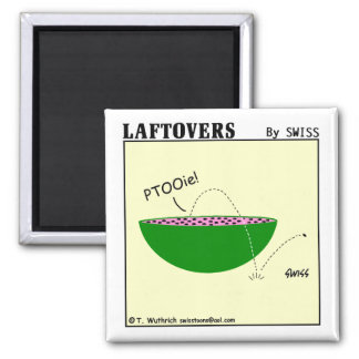 Cute Funny Watermelon Cartoon Kitchen 2 Inch Square Magnet