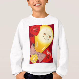 Cute Funny Weird Light Bulb Heart Valentine Sweatshirt