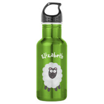 Cute Funny Whimsical Pun I Love Ewe Custom Name Stainless Steel Water Bottle