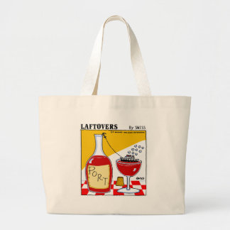 Cute Funny Wine Lover's Cartoon Grocery Tote