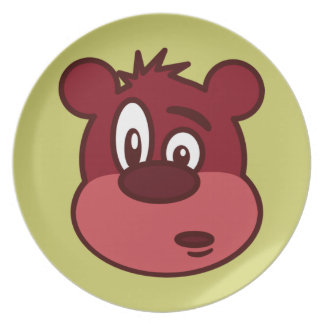 Cute Funny Winking Bear Dinner Plates