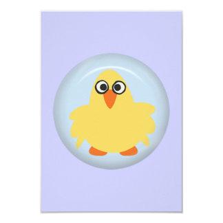 CUTE FUNNY YELLOW BLUE BABY CHICK FARM CARTOON PET CARD