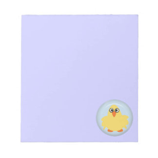 CUTE FUNNY YELLOW BLUE BABY CHICK FARM CARTOON PET MEMO NOTE PAD