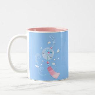Cute Furin Wind Chime Two-Tone Coffee Mug