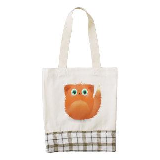 Cute Furry Creature Zazzle HEART Tote Bag
