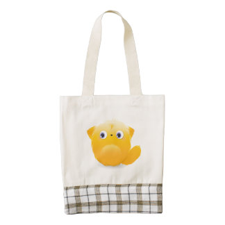 Cute Furry Creature Zazzle HEART Tote Bag
