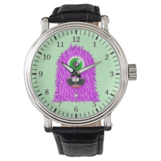 cute furry cyclops monster wristwatch