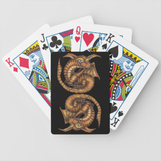 Cute Furry Dragon Bicycle Playing Cards