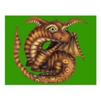 Cute Furry Dragon Postcard
