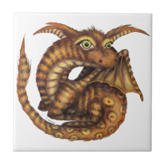 Cute Furry Dragon Ceramic Tiles