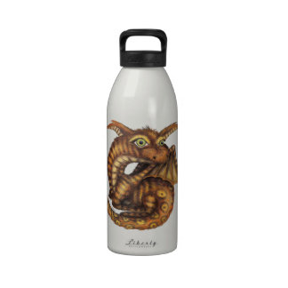 Cute Furry Dragon Reusable Water Bottle