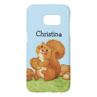 Cute Furry Squirrel Sitting in Grass Acorn Nuts Samsung Galaxy S7 Case