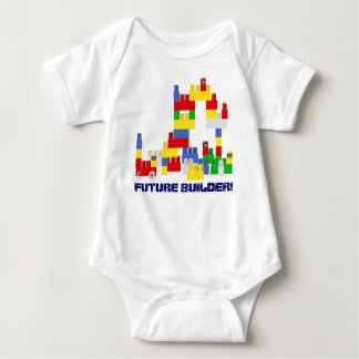 Cute FUTURE BUILDER Design w/ -Style Blocks Baby Bodysuit