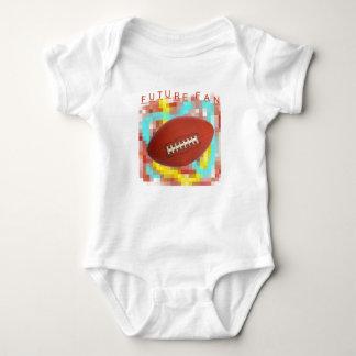 Cute Future Football Fan Design Baby Bodysuit