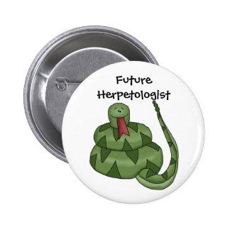 Cute Future Herpetologist Snake Lover Kids Button