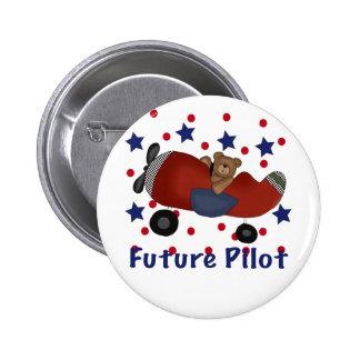 Cute Future Pilot 2 Inch Round Button