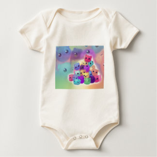 Cute fuzzies baby bodysuit