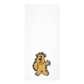 cute fuzzy bear rack cards