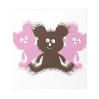 Cute Fuzzy Bears Notepad
