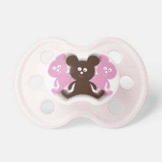 Cute Fuzzy Bears Pacifier