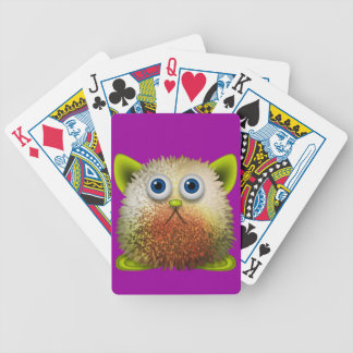 Cute Fuzzy Cartoon Character Art for All Bicycle Playing Cards