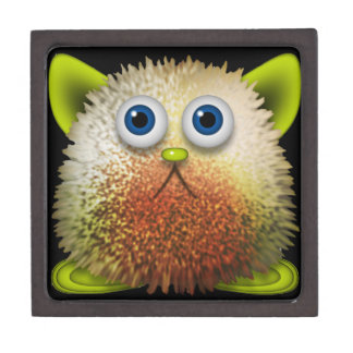 Cute Fuzzy Cartoon Character Art for All Gift Box