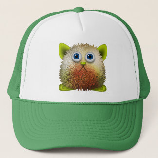 Cute Fuzzy Cartoon Character Art for All Trucker Hat