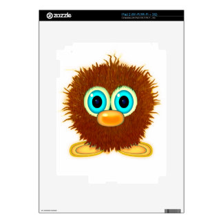 Cute Fuzzy Cartoon Wuzzy Butt Character Decal For The iPad 2