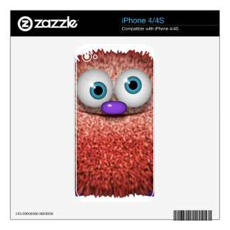 Cute Fuzzy Cartoon Wuzzy Butt Character Decal For The iPhone 4