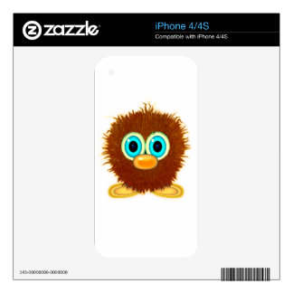 Cute Fuzzy Cartoon Wuzzy Butt Character iPhone 4 Skins