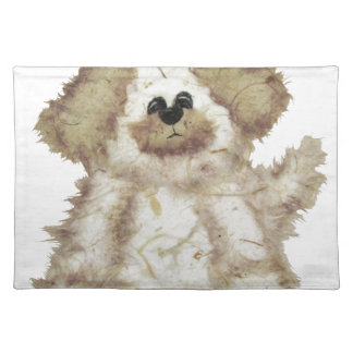 Cute Fuzzy Dog Placemats