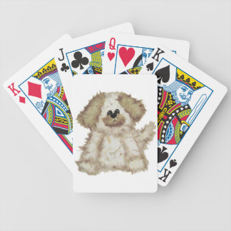 Cute Fuzzy Dog Playing Cards
