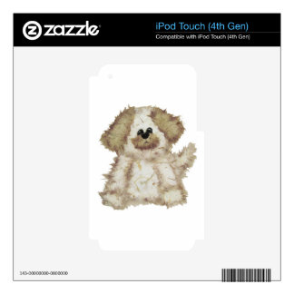 Cute Fuzzy Dog iPod Touch 4G Decals