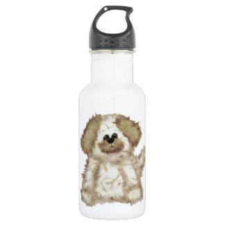 Cute Fuzzy Dog Stainless Steel Water Bottle