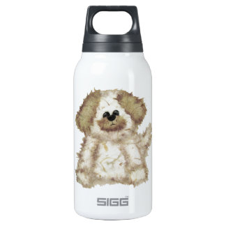 Cute Fuzzy Dog Thermos Water Bottle