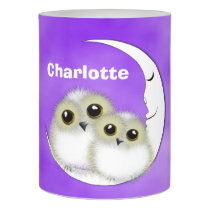 Cute Fuzzy Night Owl Personalized Flameless Candle