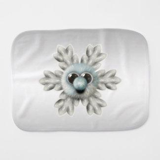 Cute Fuzzy Snowflake Burp Cloth