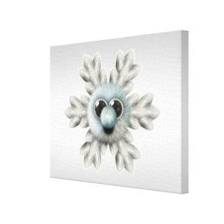 Cute Fuzzy Snowflake Canvas Print