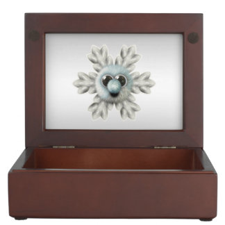 Cute Fuzzy Snowflake Keepsake Box